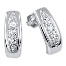 Brilio Silver Překrásné náušnice s krystaly 436 001 00162 04 - 2,22 g stříbro 925/1000