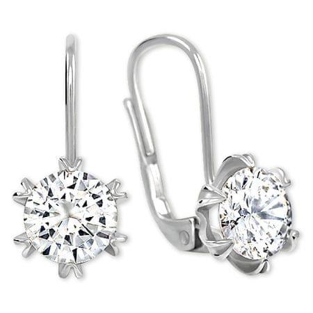 Brilio Silver Błyszczące Kolczykiz kryształem 436 001 00407 04 - 1,90 g srebro 925/1000
