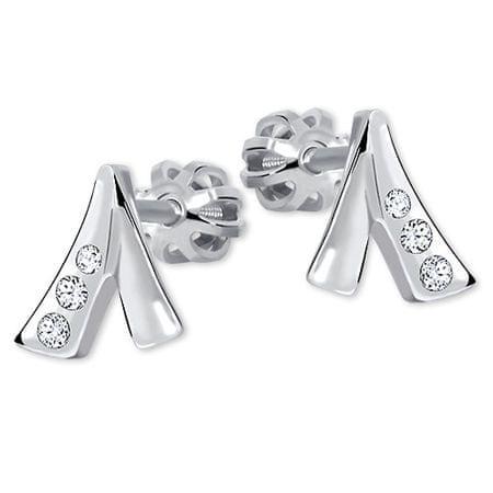 Brilio Silver Decentné náušnice s kryštálmi 436 001 00187 04 - 1,17 g striebro 925/1000