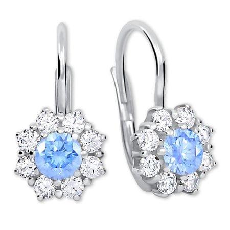 Brilio Silver Stříbrné náušnice s krystaly 436 001 00322 04 - tyrkysové - 2,13 g stříbro 925/1000