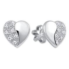 Brilio Silver Stříbrné náušnice Srdce 436 001 00432 04 - 0,95 g stříbro 925/1000