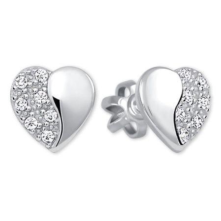 Brilio Silver Ezüst szív fülbevaló 436 001 00432 04 - 0,95 g ezüst 925/1000