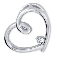 Brilio Silver Ezüst szív medál kristállyal 446 001 00226 04 - 2.63 g ezüst 925/1000