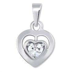 Brilio Silver Ezüst medál kristályokkal 446 001 00388 04 - 1,36 g ezüst 925/1000