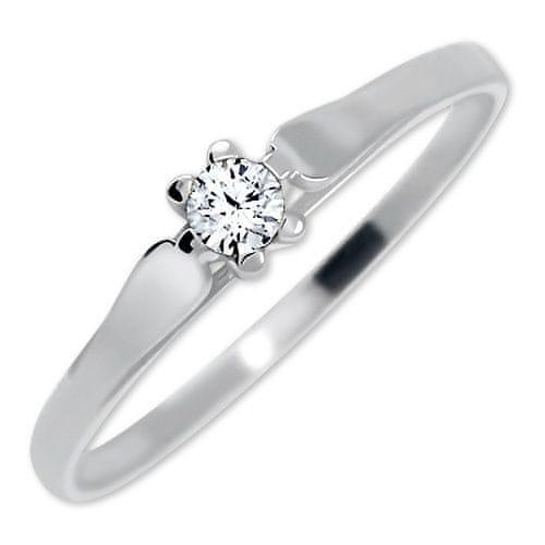 Brilio Zásnubní prsten z bílého zlata se zirkonem 226 001 00992 07 (Obvod  54 mm) zlato bílé 585 1000 8757b6bce95