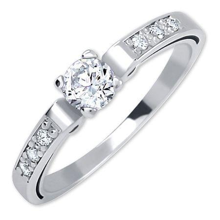 Brilio Dámsky prsteň z bieleho zlata s kryštálmi 229 001 00498 07 (Obvod 51 mm) biele zlato 585/1000