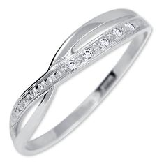 Brilio Dámská prsten z bílého zlata s krystaly 229 001 00621 07 zlato bílé 585/1000