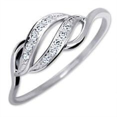 Brilio Prsten z bílého zlata s krystaly 229 001 00648 07 zlato bílé 585/1000
