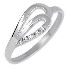 Brilio Prsten z bílého zlata s krystaly 229 001 00735 07 zlato bílé 585/1000