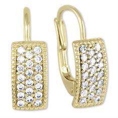 Brilio Krásné náušnice ze žlutého zlata 239 001 00679 - 1,95 g zlato žluté 585/1000