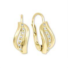 Brilio Zlaté náušnice s kryštálmi 239 001 00688 - 1,85 g žlté zlato 585/1000