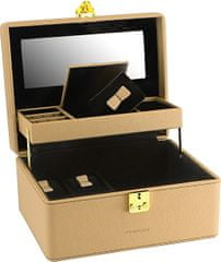 Friedrich Lederwaren Jewel Box Beige / Black Ascot 20124-8