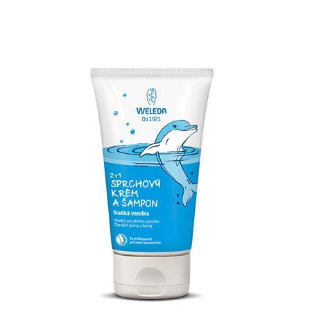 Weleda Prysznic szampon śmietany i 2 na 1 150 ml słodki wanilii