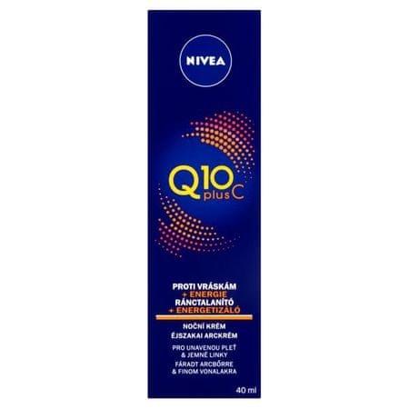 Nivea Energetyzujące noc krem przeciwzmarszczkowy Q10 Plus C 40 ml