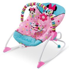 Bright Starts Houpátko vibrující Minnie Mouse PeekABoo Rocker 0m+, do 18kg