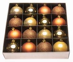 Seizis Set 16 koulí v luxusní krabičce, zlaté, měděné, hnědé