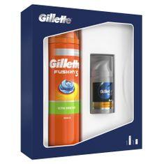Gillette Fusion5 Sensitive Holicí Gel + Balzám Po Holení Dárková Sada