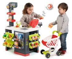 Smoby Supermarket dla dzieci, szaro-zielony