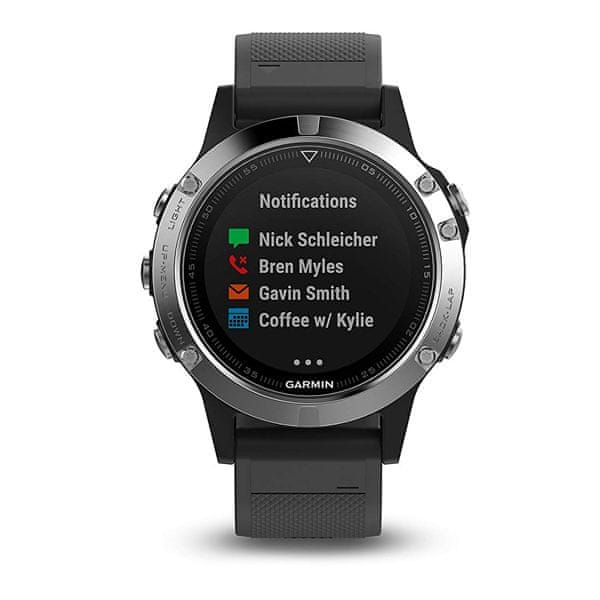 Garmin fénix 5 Silver, Black band