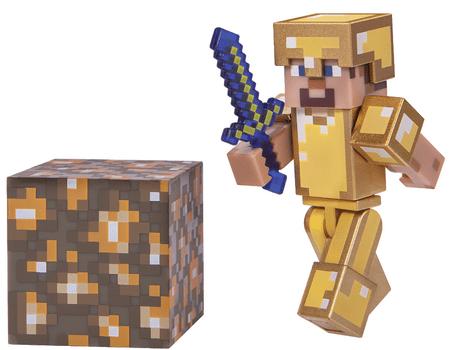 TM Toys Minecraft - sběratelská figurka Steve ve zlaté zbroji