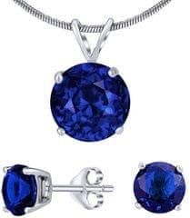 Silvego Strieborný set šperkov s tmavo modrým krištáľom JJJS8TM1 striebro 925/1000