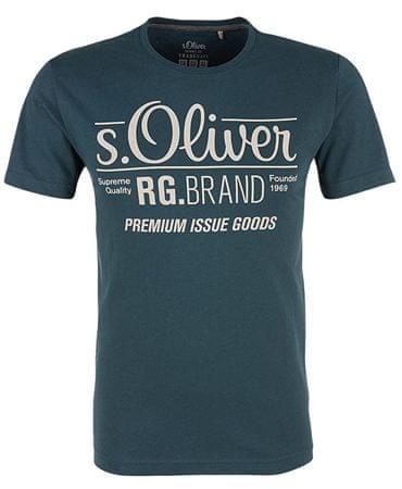 s.Oliver Pánske tričko 03.899.32.4501 .6987 Pond Ground (Veľkosť S)