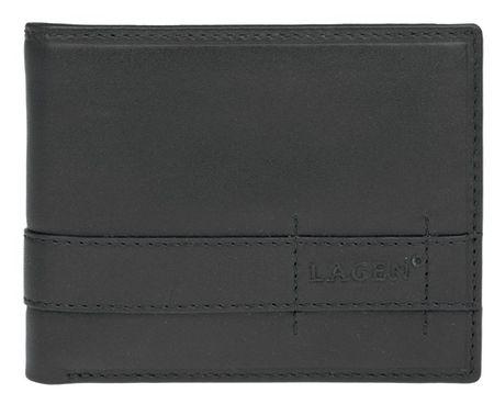 Lagen Férfi fekete bőr pénztárca fekete 11224