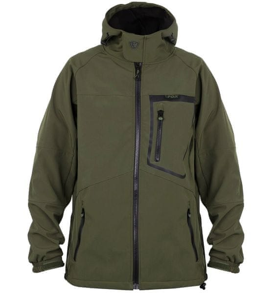 Fox Bunda Green Black Softshell Jacket L