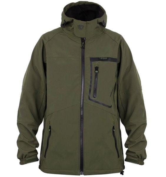 Fox Bunda Green Black Softshell Jacket XL
