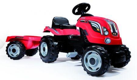 Smoby traktor na pedala  Farmer XL, rdeč