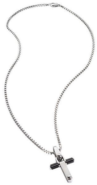 Morellato Pánský ocelový náhrdelník s křížkem Motown SAAK06