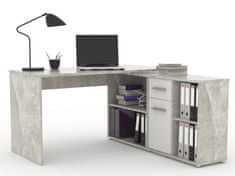 Monoblok stolový RAF 13, beton/bílá