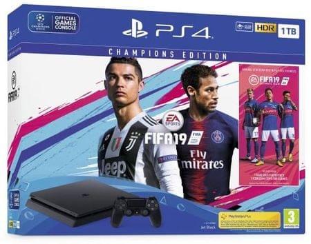 Sony igralna konzola PlayStation 4 Slim 1 TB + igra FIFA 19 Champions Edition