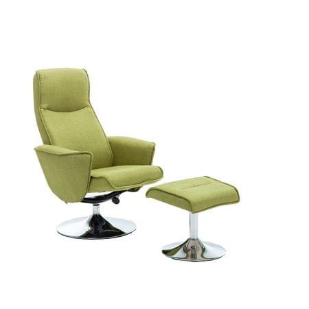 Kreslo s podnožou, zelená farba Greenery, LONATO