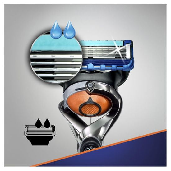 Gillette Fusion5 ProGlide Holicí Strojek + Sensitive Gel Na Holení Sada