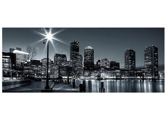 Dimex Fototapeta MP-2-0016 panoráma - Boston čiernobiely 375 x 150 cm