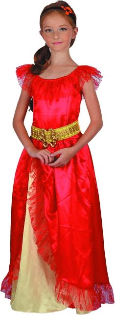 MaDe Červené šaty - princezna L