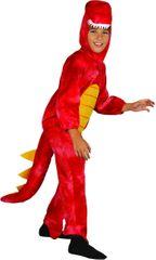 MaDe Dinoszaurusz jelmez M, piros