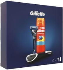 Gillette Fusion5 ProShield Holicí Strojek + Holicí Gel + Cestovní Pouzdro