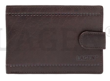 Lagen Pánská kožená peněženka LV-8004 D.BRN