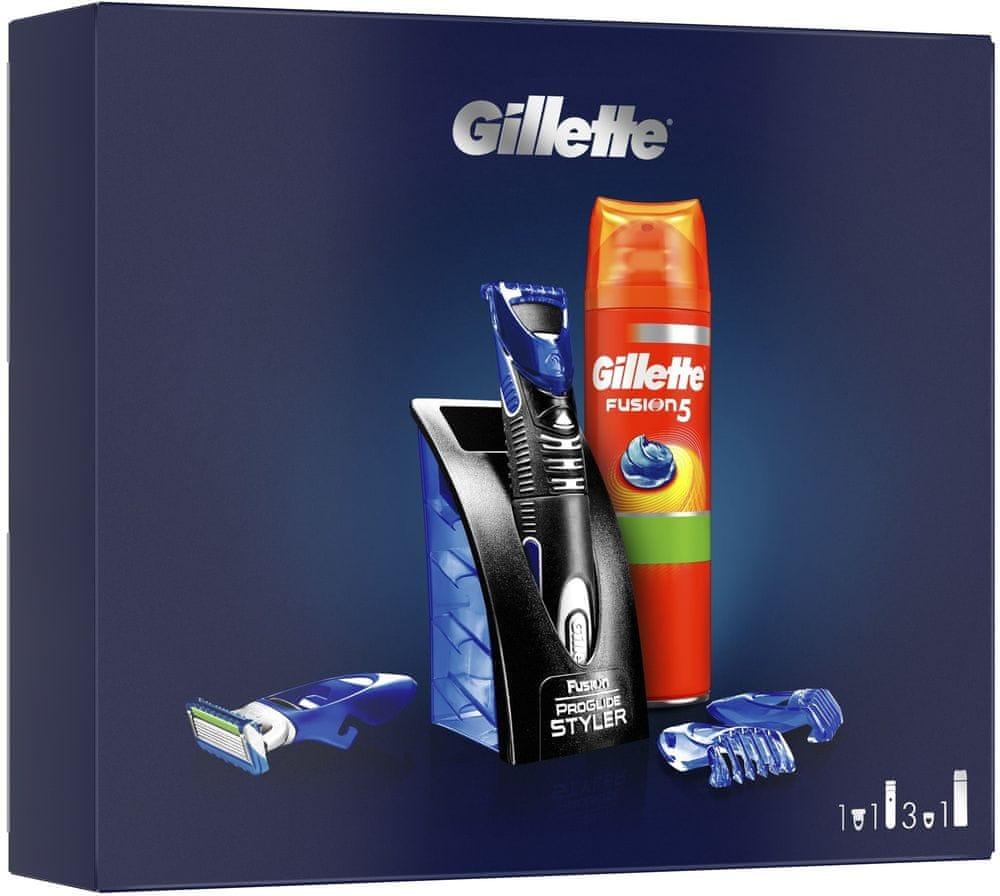 Gillette Dárkové Balení Víceúčelový Styler + Sensitive Gel Na Holení