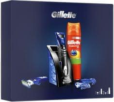 Gillette Víceúčelový Styler + Fusion5 Sensitive Gel Na Holení Sada