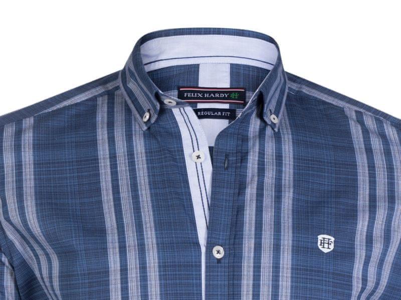 ... 3 - FELIX HARDY pánská košile M tmavě modrá ... c23f1e0022