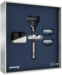 Gillette Mach3 S Holicím Strojkem + Stojan Na Strojek Dárkové Balení