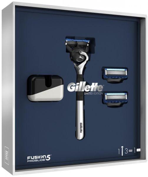 Gillette Fusion5 ProGlide Dárkové Balení + 2 Náhradní Hlavice + Stojan