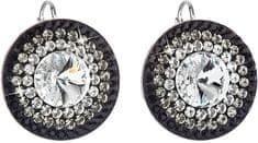 Evolution Group Překrásné stříbrné náušnice 31208.3 crystal+jet stříbro 925/1000