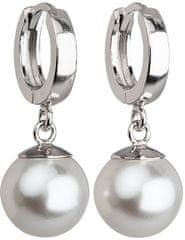 Evolution Group Stříbrné náušnice s perlou 31151.1 bílá stříbro 925/1000