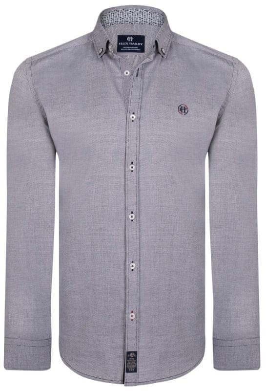 1 - FELIX HARDY pánská košile M šedá ... 3ae8e61924