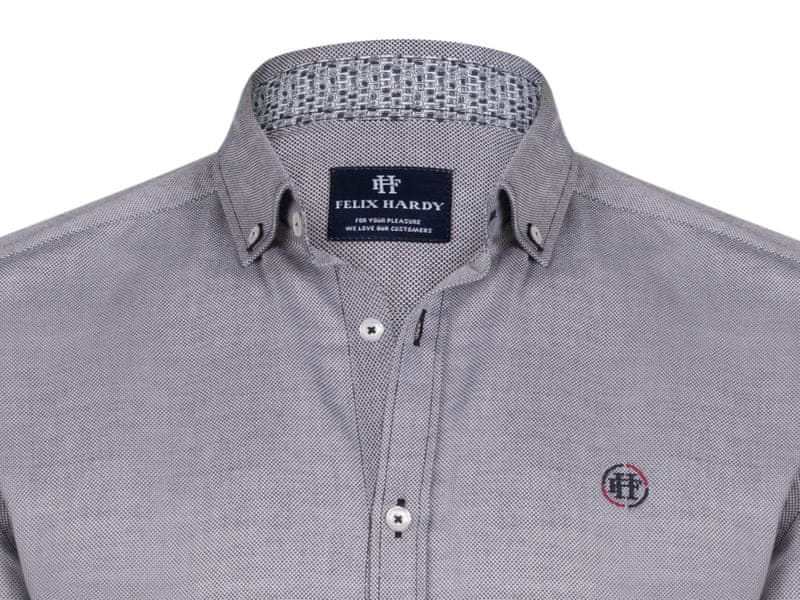 ... 3 - FELIX HARDY pánská košile M šedá ... 00c9615176