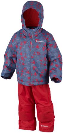 Columbia otroški zimski komplet Buga Set Dark Mountain, modro rdeč, 2T